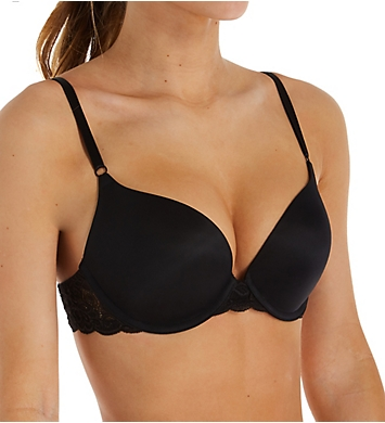 Self Expressions Solid & Lace Push Up Bra - 2 Pack