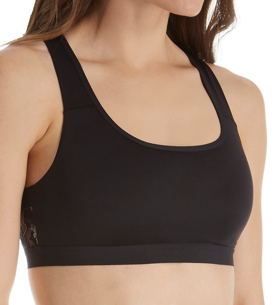 Self Expressions SE1136 Removable Pad Lace Band Bralette Bra