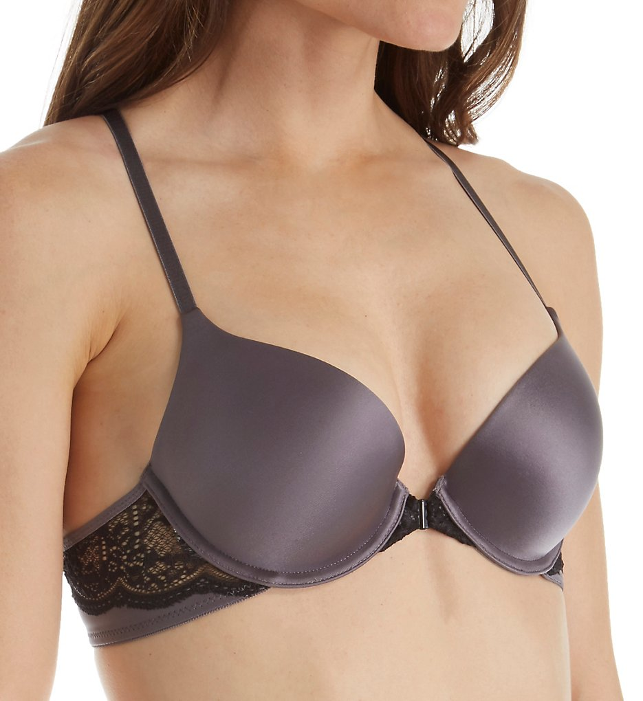 Self Expressions >> Self Expressions SE6574 Custom Lift T-Back Front Close Bra (Carbon Grey 34A)