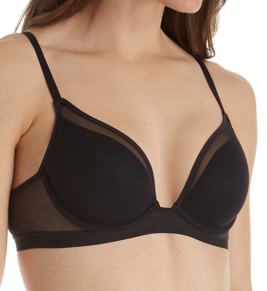 Self Expressions >> Self Expressions SE9300 Mesh Lightly Lined Bra (Black 34D)