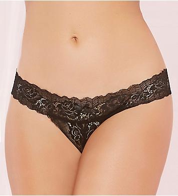 Seven 'til Midnight Rose Lace Open Crotch Panty