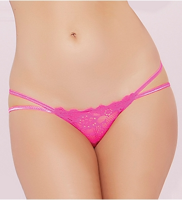 Seven 'til Midnight Floral Lace Galloon Open Back Panty