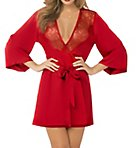 Toast of the Town Satin and Eyelash Robe