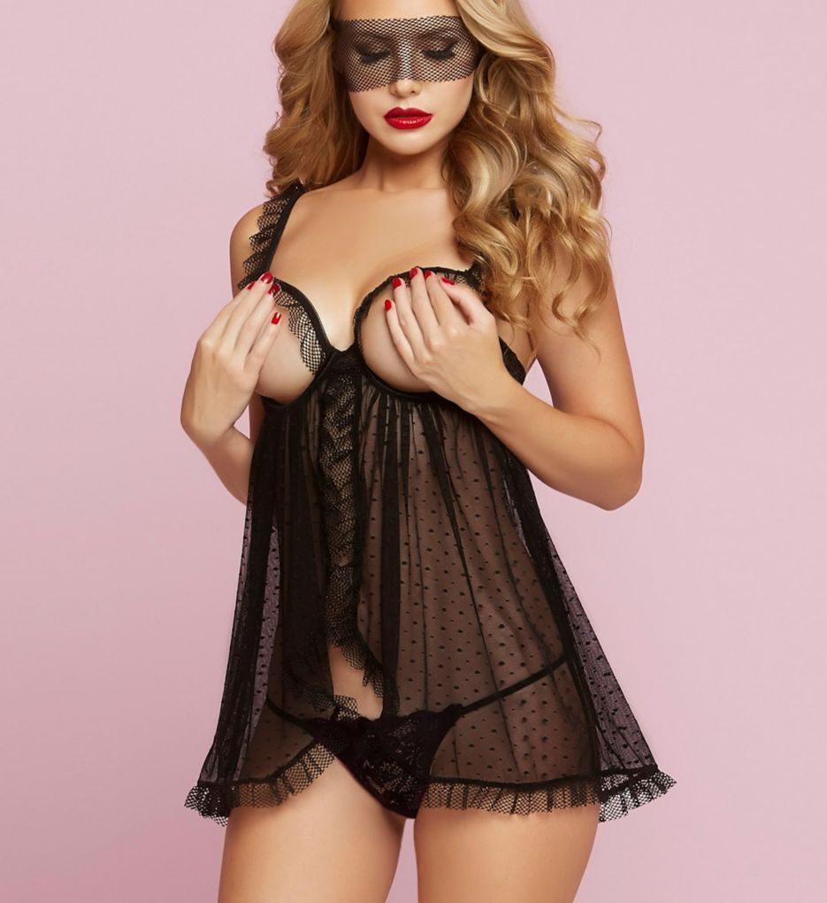 Seven 'til Midnight Simply Naughty Babydoll Lace Set