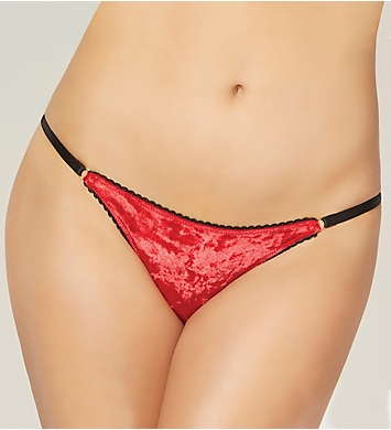 Seven 'til Midnight Crushed Velvet Lace Bikini Panty