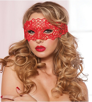 Seven 'til Midnight Lace Eye Mask with Satin Ribbon Ties