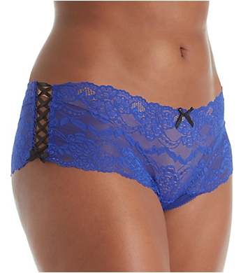 Seven 'til Midnight Plus Size Lace Up Boyshort Panty