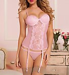 Veronica Mesh and Lace Underwire Bustier