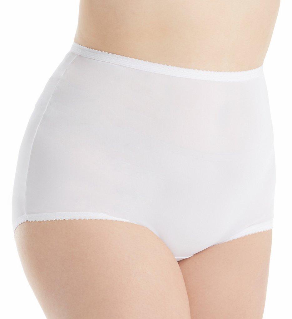 Shadowline 17005P Plus Size Spandex Classics Brief Panty (White 3X)