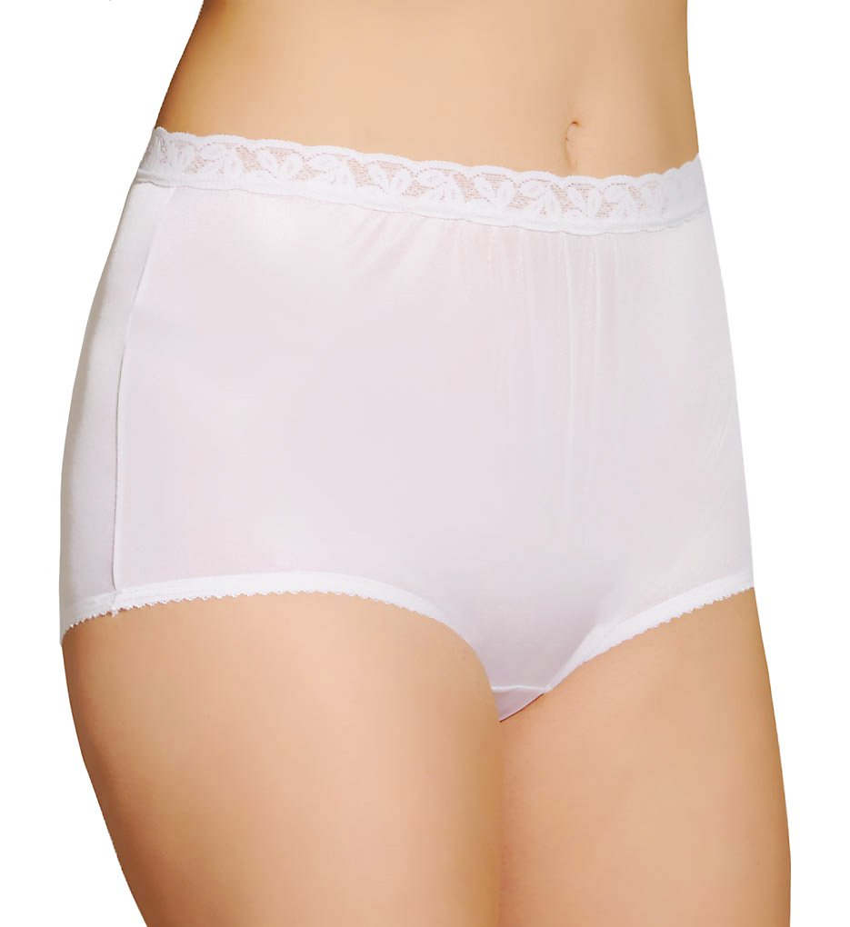 Shadowline - Shadowline 17014 Nylon Classics Brief Panty (White 5)