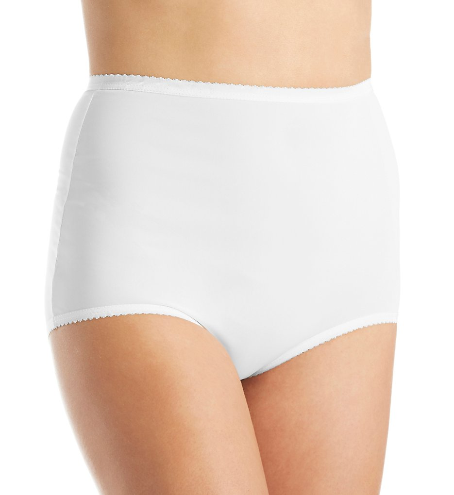 Shadowline >> Shadowline 17017 Nylon Classics Full Brief Panty (White 5)