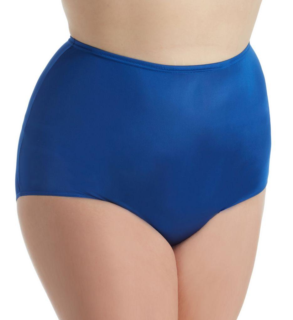 Shadowline Plus Size Hidden Elastic Nylon Classic Brief Panty
