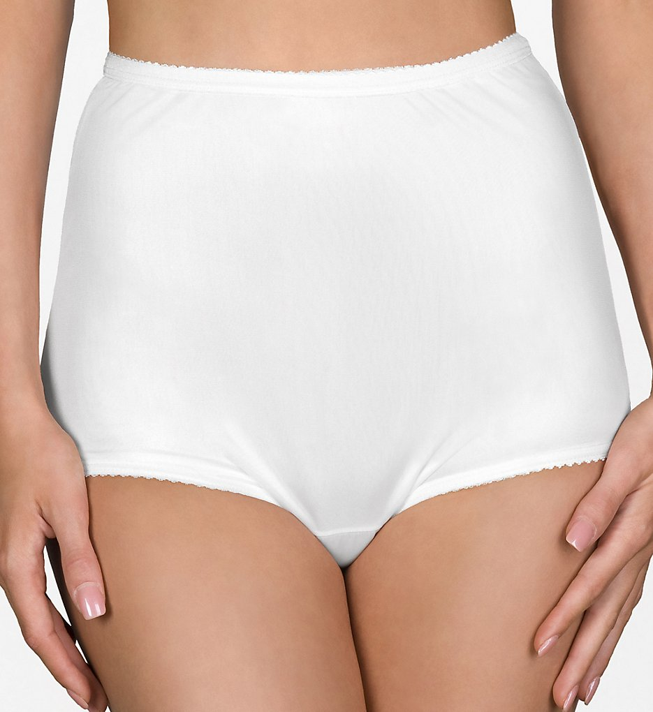 Shadowline - Shadowline 17042 Pants & Daywear Nylon Classic Brief Panty (White 5)