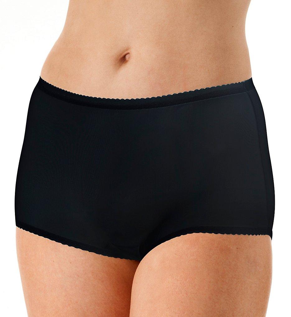 Shadowline 17605 Spandex Modern Brief Panty (Black L)