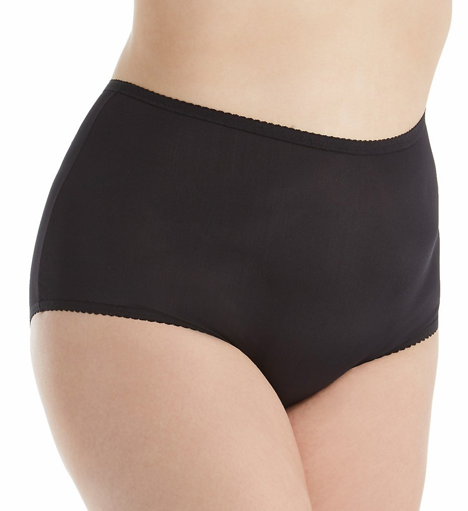 Shadowline 17605P Plus Size Spandex Modern Brief Panty (Black 3X)