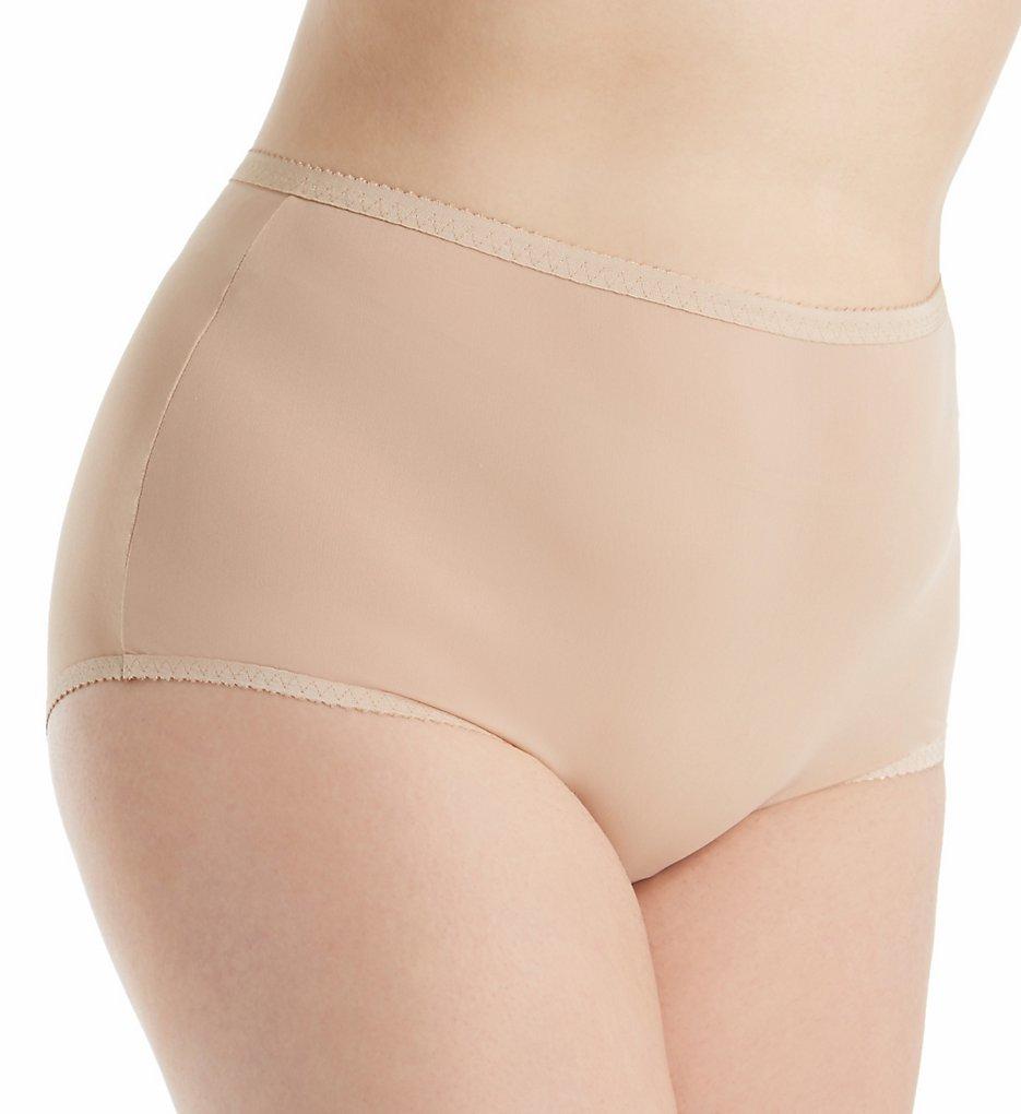 Shadowline 17605P Plus Size Spandex Modern Brief Panty (Nude 3X)
