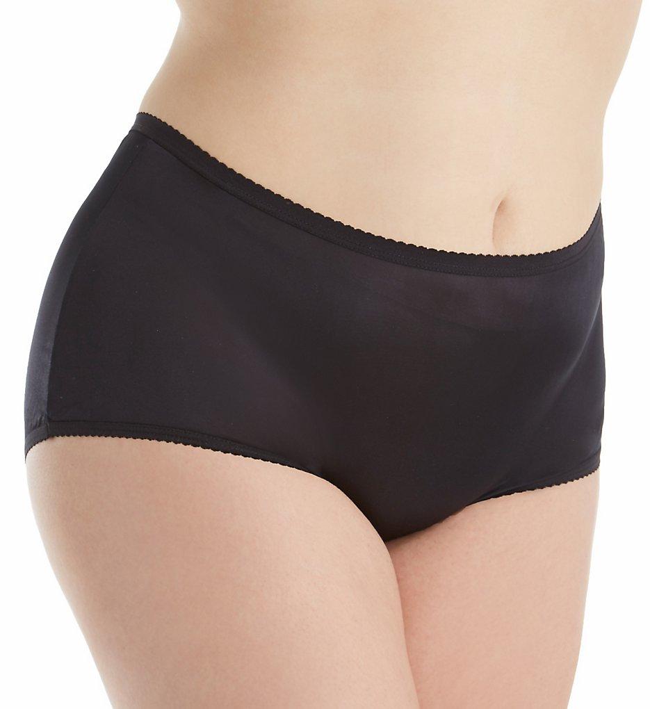 Shadowline 17642P Plus Size Nylon Modern Brief Panty