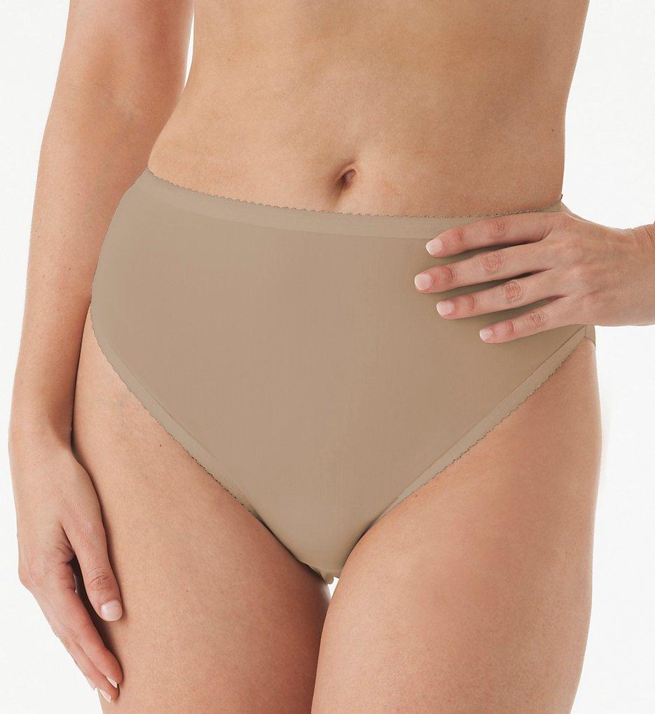 Shadowline 17805 Spandex Hi-Leg Brief Panty (Nude L)
