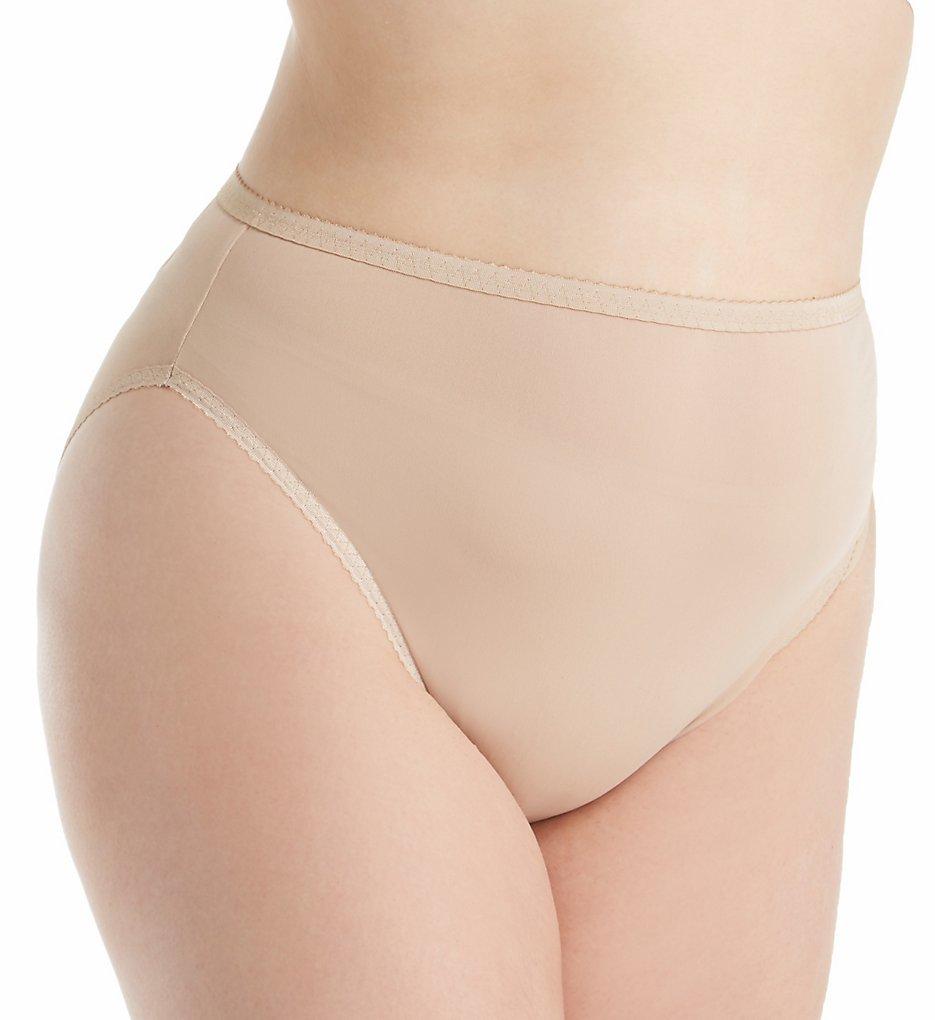 Shadowline 17805P Plus Size Spandex Hi-Leg Brief Panty (Nude 1X)