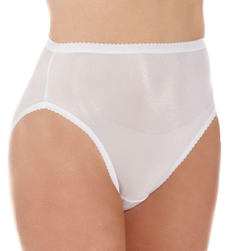 Shadowline Nylon Classics Hi-Leg Brief Panty