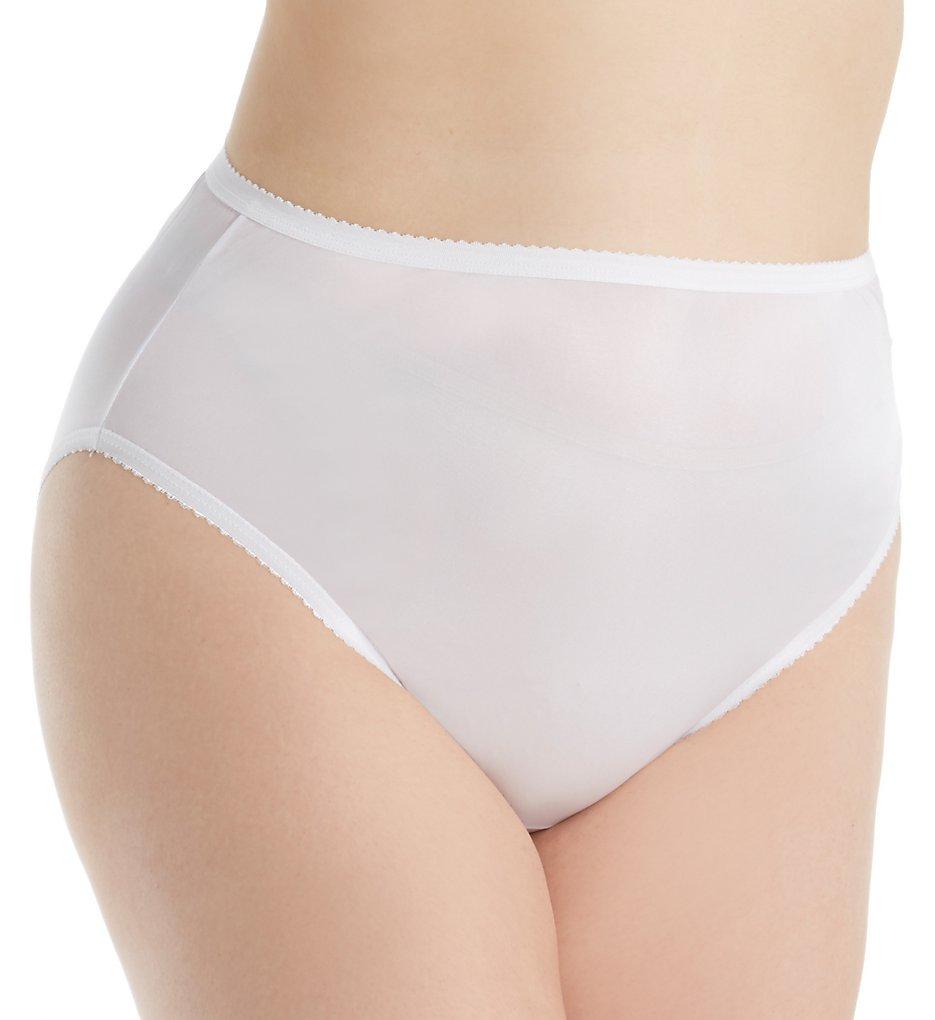 Shadowline 17842P Plus Size Nylon Hi-Leg Brief Panty