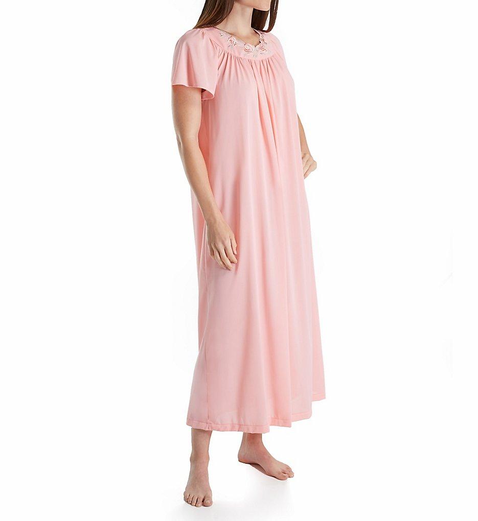 ShadowLine 32280 Petals 53 Inch Gown S Melon   eBay