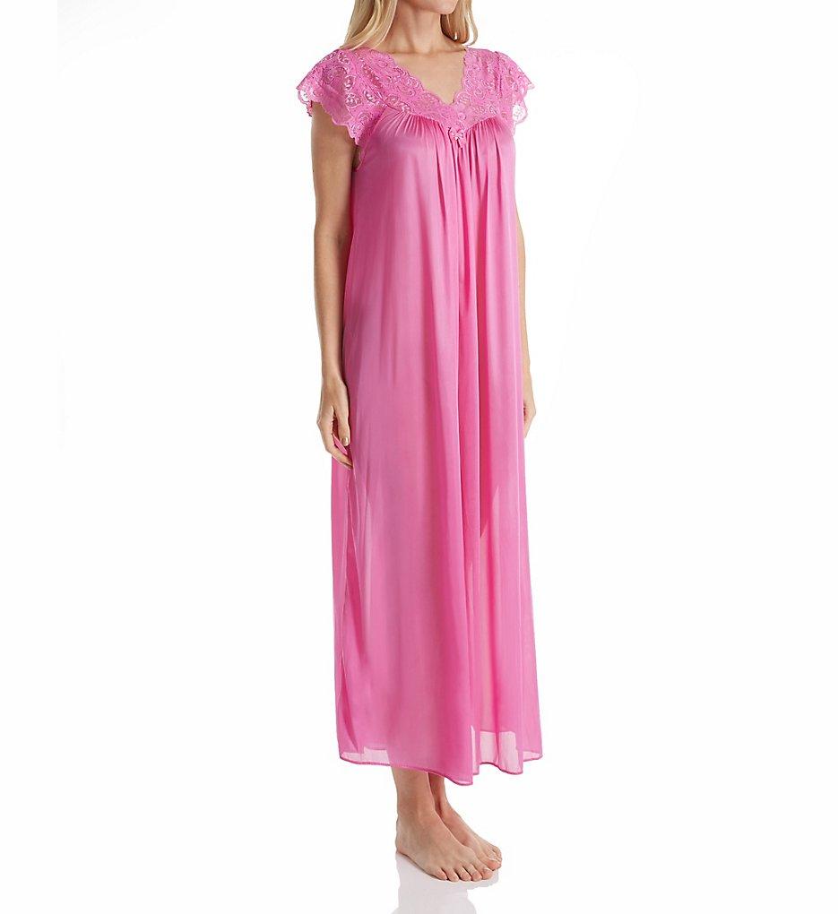 ShadowLine 32737 Silhouette 53 Inch Gown 1x Flamingo Pink   eBay