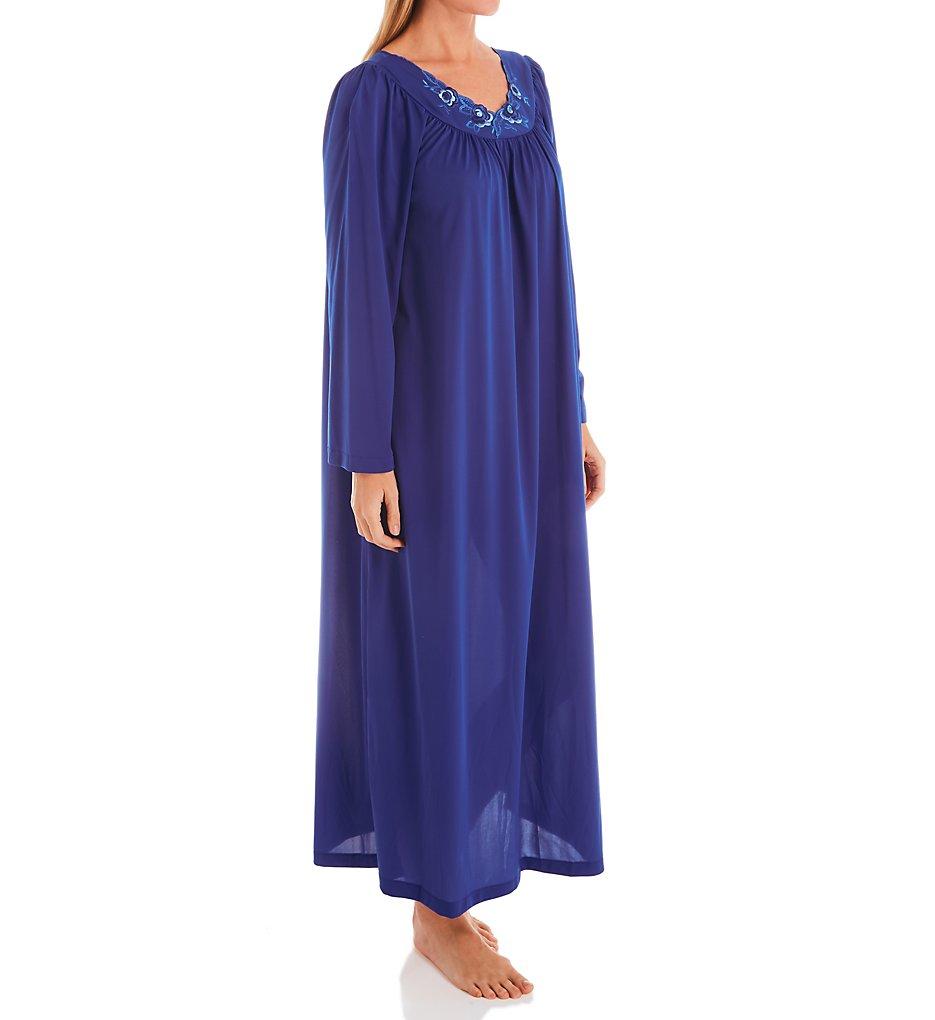 Shadowline Petals 53 Inch Long Sleeve Gown 33280 - Shadowline Sleepwear