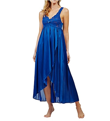 Shadowline Silhouette Nylon Tricot Hi-Low Gown