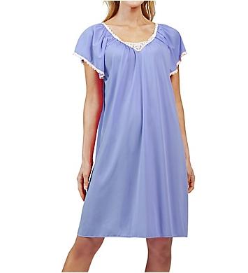 Shadowline Cameo Nylon Tricot Short Sleeve 40 Inch Waltz Gown
