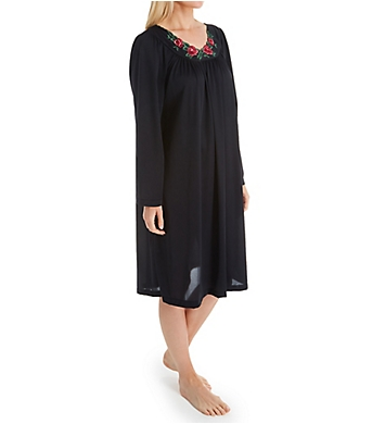 Shadowline Petals Long Sleeve Short Gown