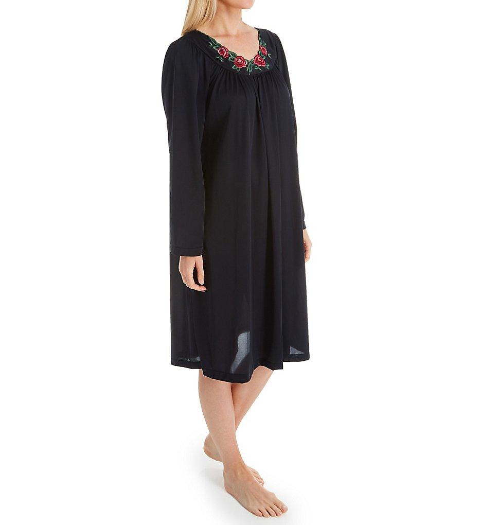 Shadowline Petals Long Sleeve Short Gown 38280 - Shadowline Sleepwear