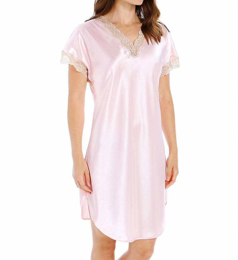 ShadowLine 4503 Charming Charmeuse Sleep Gown S Pink   eBay