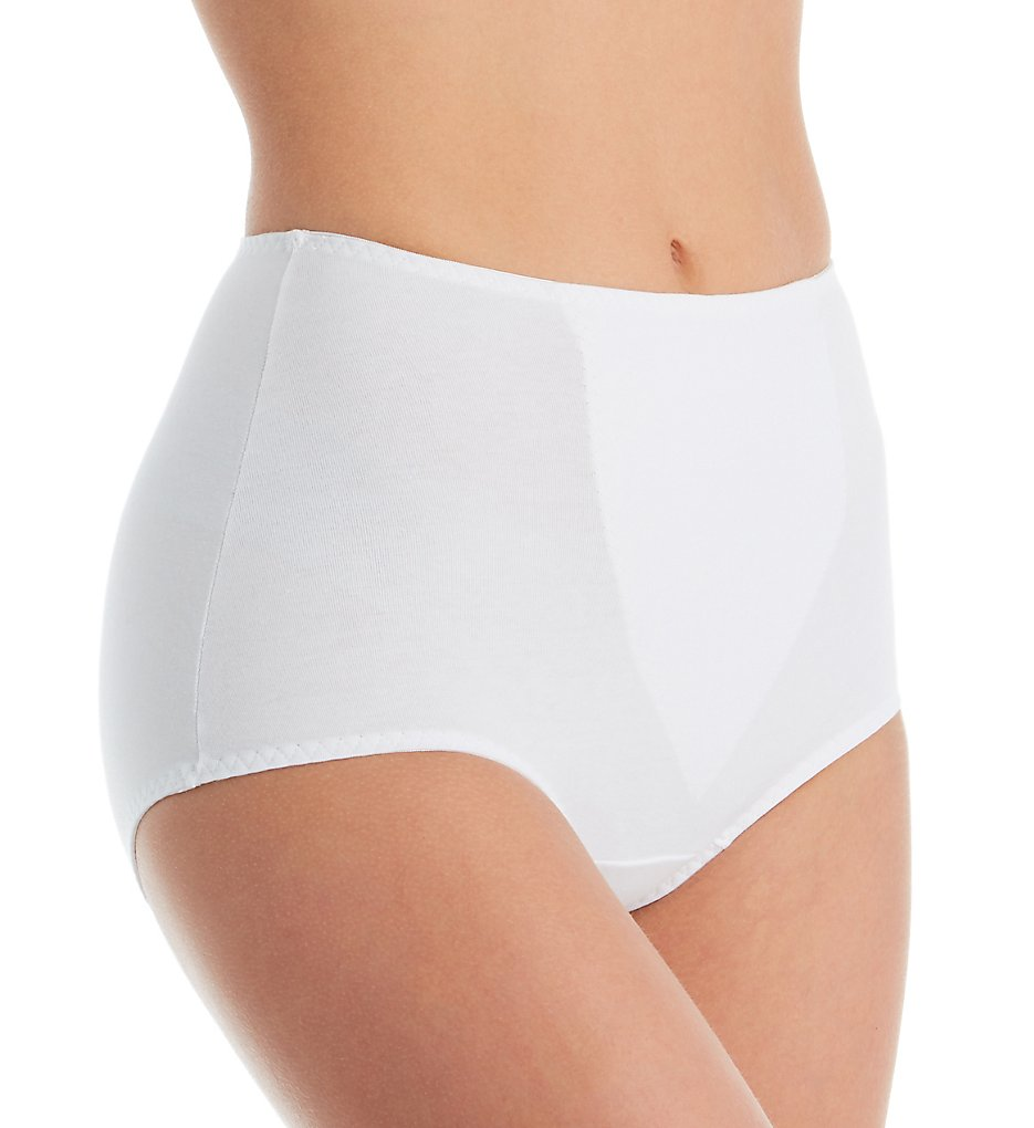 Shape - Shape 1612 Cotton Blend Full Brief with Tummy Panel (White M)