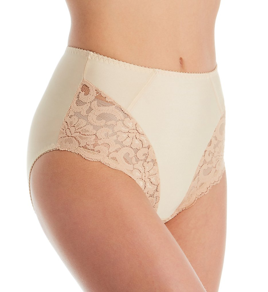 Shape - Shape S4001 Hi-Cut Control Brief with Lace (Nude M)