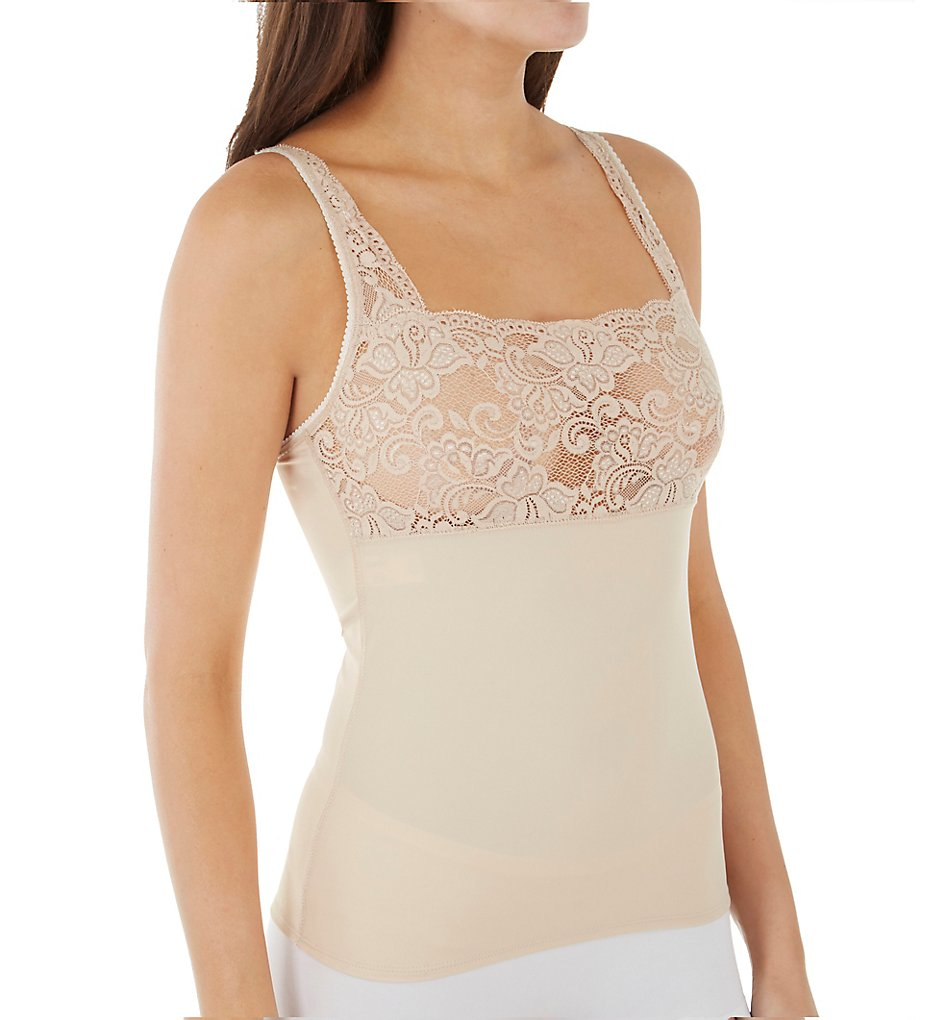 Shape - Shape S4003 Square Neck Lace Top Smoothing Camisole (Nude XL)