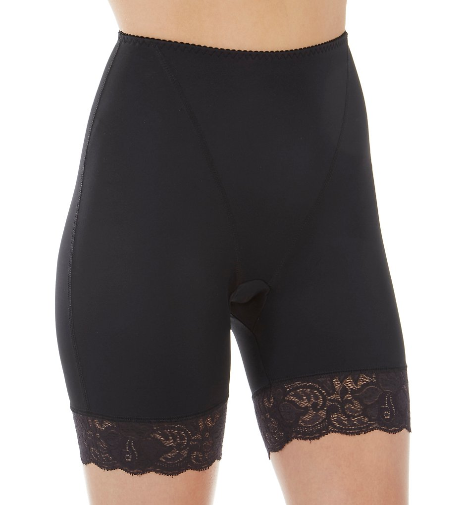 Shape - Shape S4004 Smoothing High Waist Thigh Slimmer with Lace (Black S)