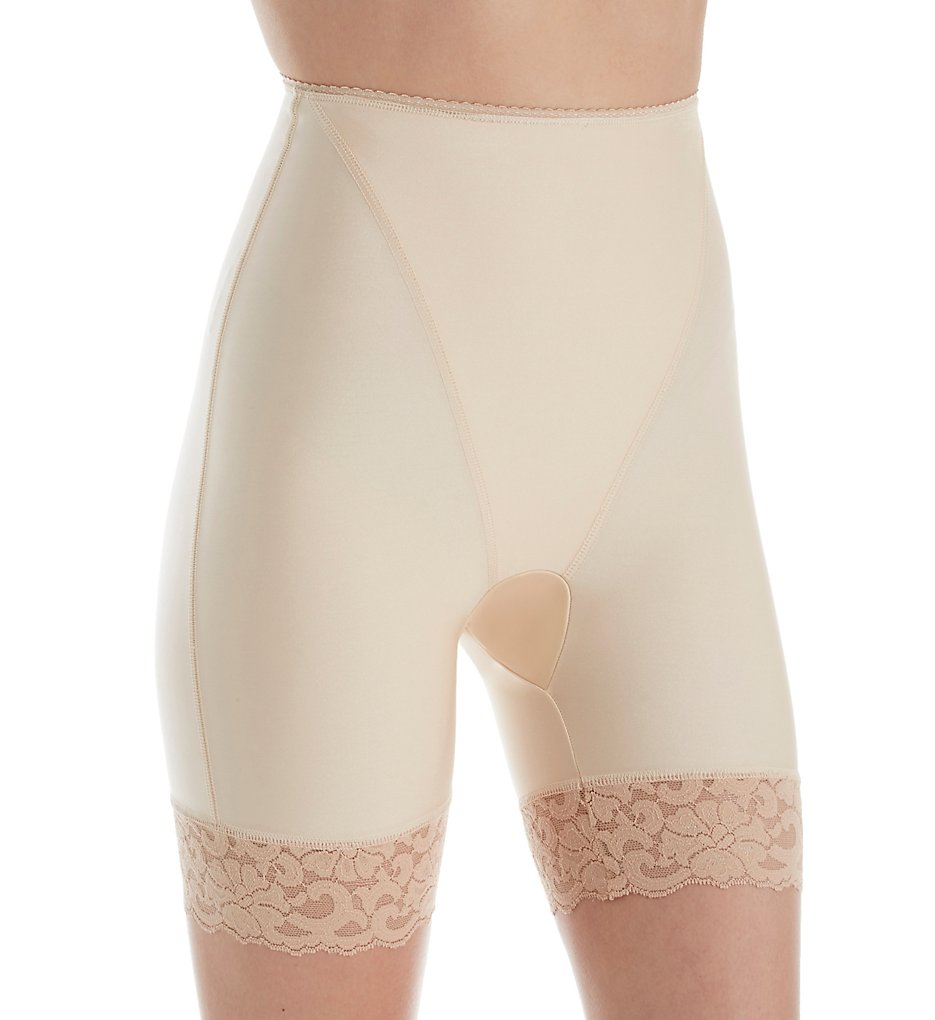 Shape - Shape S4004 Smoothing High Waist Thigh Slimmer with Lace (Nude XL)