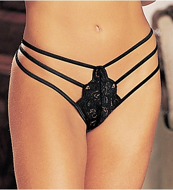 Shirley of Hollywood Stretch Lace Strappy Thong