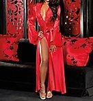 Charmeuse Lace and Chiffon Long Robe