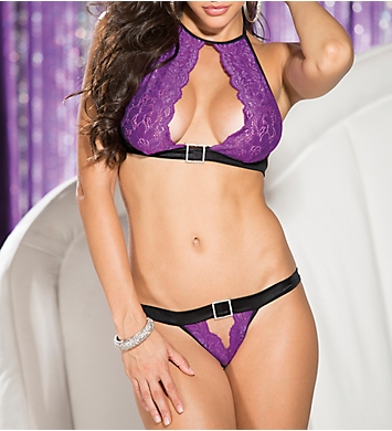 Shirley of Hollywood Sexy Chic Stretch Lace 2 Piece Bra and Panty Set
