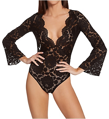 Shirley of Hollywood All Over Stretch Lace Teddy