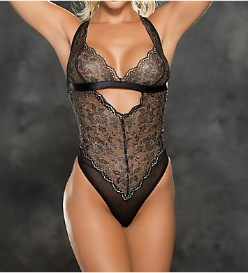 Shirley of Hollywood Two Tone Stretch Lace Teddy