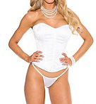 Satin Sweetheart Corset with G-string