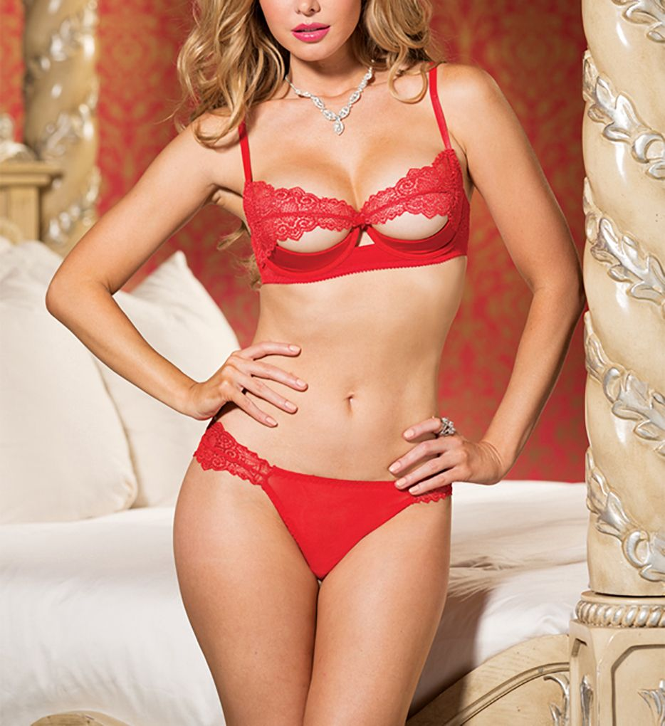 Shirley of Hollywood Lace Bra and Panty 2 Piece Set