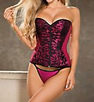 Lace Overlay Corset with G-string