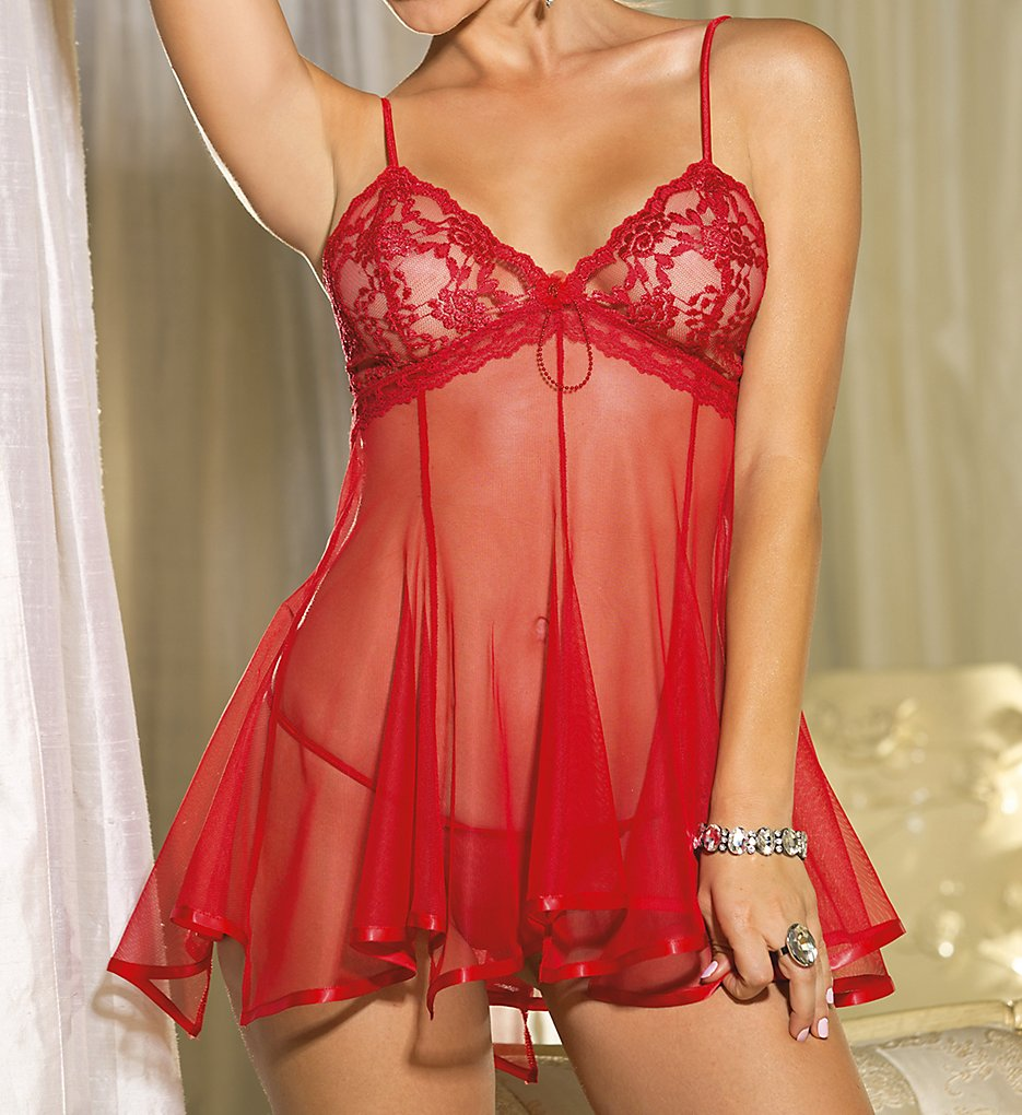974da048f1c Shirley of Hollywood Chopper Bar Lace And Net Babydoll 3232 ...