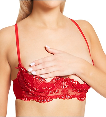 Shirley of Hollywood Sparkling Sequin Embroidered Shelf Bra