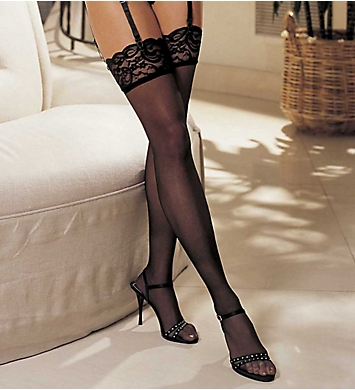 Shirley of Hollywood Lace Top Thigh High