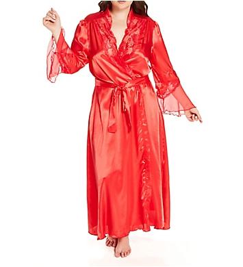 Shirley of Hollywood Plus Size Chiffon Charmeuse Long Robe